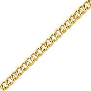 14K Yellow Gold 4.5mm Fancy Curb Link Bracelet