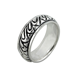 Sterling Silver Loops Spin Ring