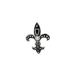 Sterling Silver Fleur De Lis Necklace with 1.5mm Cable Chain