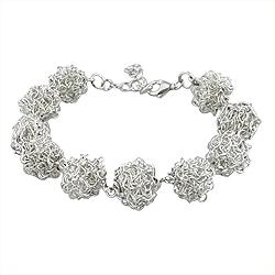 Sterling Silver Wire Balls Bracelet