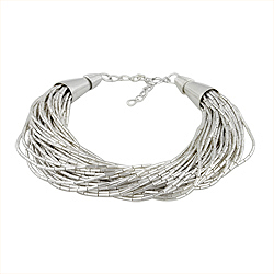 Sterling Silver Multiple Chain Strands Bracelet