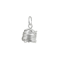 Sterling Silver Wire Cylinder Pendant