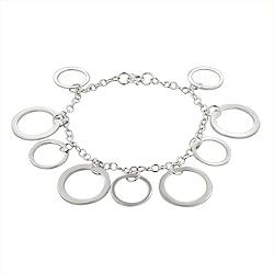 Sterling Silver Dangling Circles Bracelet