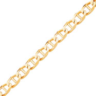 10K Gold 13mm Hand-Polished 8 Inch Anchor Link Chain Bracelet