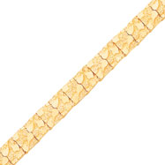 10K Gold 12.0mm NUGGET Bracelet