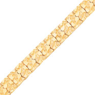 10K Gold 15.0mm NUGGET Bracelet