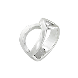 Sterling Silver Twisted Waves Open Ring
