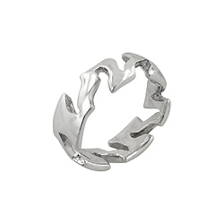 Sterling Silver Open Tribal Ring