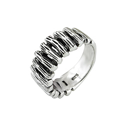 "Sterling Silver ""Suspension Bridge"" Ring"