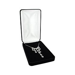 Black Velvet Necklace Box