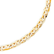 14K Gold  9mm Hand-Polished Link Necklace