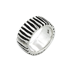 Sterling Silver Bars Ring