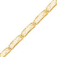 14K Gold Greek Key Bracelet