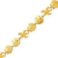 14K Gold Seashore Theme Bracelet