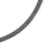 Sterling Silver Fancy Antiqued Mesh Necklace