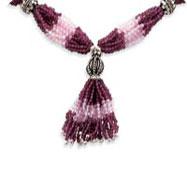 Sterling Silver Garnet & Rose Quartz Stone Necklace