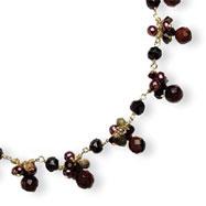 Sterling Silver & Vermeil Carnelain, Aventurine, Jasper, Freshwater Pearl Necklace