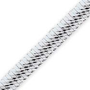 Sterling Silver 7.25mm Designed Cubetto Bracelet