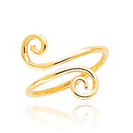 14K Gold Swirl Toe Ring