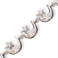 Sterling Silver Moons & Stars Bracelet