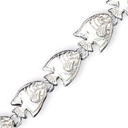 Sterling Silver Tropical Fish Bracelet