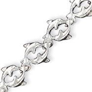 Sterling Silver Dolphins Bracelet