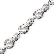 Sterling Silver Cats Bracelet
