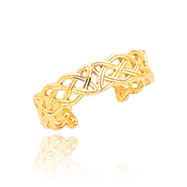 14K Gold Celtic Knot Toe Ring