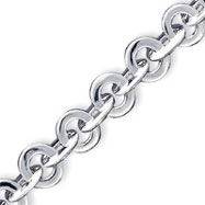 Sterling Silver  Polished Fancy Link Toggle Bracelet