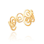 14K Gold Scroll Toe Ring
