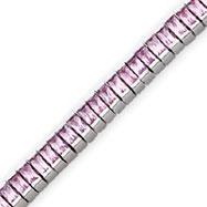 Sterling Silver Pink CZ Bracelet