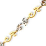 Sterling Silver & Vermeil CZ Bracelet