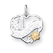 Sterling Silver # 1 Daughter Charm