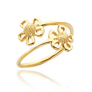 14K Gold Flower Toe Ring