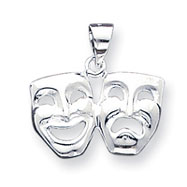 Sterling Silver Comedy, Tragedy Charm