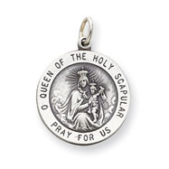 Sterling Silver Our lady Of The Holy Scapular Medal