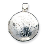 Sterling Silver Large Round Locket