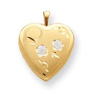 Sterling Silver With 14K Gold Filled Heart Locket