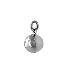 Sterling Silver 14mm Jingling Ball Pendant
