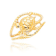 14K Gold Turtle Toe Ring