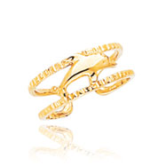 14K Gold Dolphin Toe Ring