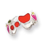 Sterling Silver Enameled Fruit Toe Ring