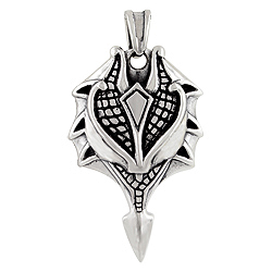 Sterling Silver Armor Pendant