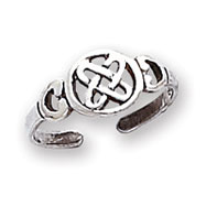Sterling Silver Antiqued Celtic Knot Toe Ring