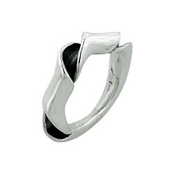 Sterling Silver Rolled Ribbon Ring