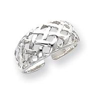 Sterling Silver Lattice Toe Ring