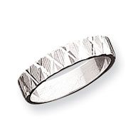 Sterling Silver 4mm Diamond-Cut Band