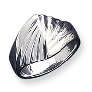 Sterling Silver Fancy Ribbed Ring