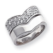 Sterling Silver CZ Ring Set