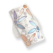 Sterling Silver Multi-Colored Mother Of Pearl Ring